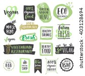 fresh healthy organic vegan... | Shutterstock .eps vector #403128694
