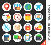 round flat icons for web sites  ... | Shutterstock .eps vector #403130578