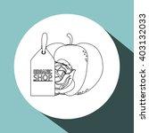 organic shop design  vector... | Shutterstock .eps vector #403132033