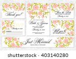 wedding invitation  thank you... | Shutterstock .eps vector #403140280