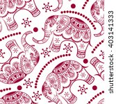 seamless pattern with decorated ... | Shutterstock .eps vector #403141333
