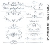 set of vintage calligraphic... | Shutterstock .eps vector #403144360