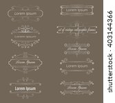 set of vintage calligraphic... | Shutterstock .eps vector #403144366