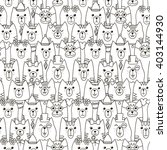 cute cats seamless pattern.... | Shutterstock .eps vector #403144930
