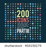 Large Set Of Simple Icons On...