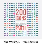 large selection of simple icons ... | Shutterstock .eps vector #403150180