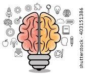 Stock vector brain storming design 403151386