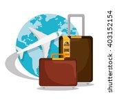 travel around the world design  | Shutterstock .eps vector #403152154