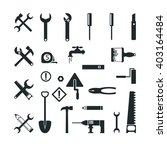 tools construction icons set... | Shutterstock .eps vector #403164484