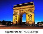 beautiful  view of the arc de... | Shutterstock . vector #40316698
