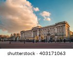 buckingham palace in the evening | Shutterstock . vector #403171063
