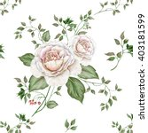 watercolor floral seamless... | Shutterstock . vector #403181599