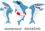 happy shark cartoon | Shutterstock .eps vector #403183240