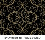 baroque pattern with vintage... | Shutterstock .eps vector #403184380
