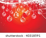 abstract christmas balls on... | Shutterstock .eps vector #40318591