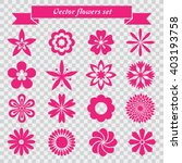 vector flowers icons set   Shutterstock .eps vector #403193758