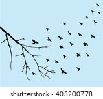vector illustration of birds... | Shutterstock .eps vector #403200778