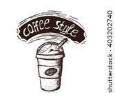 coffee frappe  | Shutterstock .eps vector #403202740