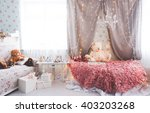 shabby chic interior with ... | Shutterstock . vector #403203268