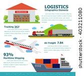 logistics infographics elements ...   Shutterstock .eps vector #403211080