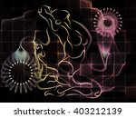 human tangents series. abstract ... | Shutterstock . vector #403212139