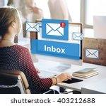 email inbox electronic... | Shutterstock . vector #403212688