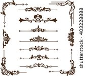 vector ornaments frames ... | Shutterstock .eps vector #403228888