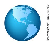 globe with north and south... | Shutterstock .eps vector #403233769