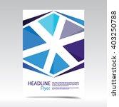 vector abstract brochure flyer. ... | Shutterstock .eps vector #403250788