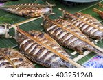 fishes grill a delicious local... | Shutterstock . vector #403251268