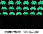 inviders arcade game screen... | Shutterstock . vector #403262200
