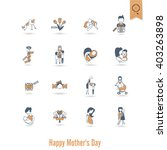 happy mothers day simple flat... | Shutterstock .eps vector #403263898