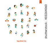 happy mothers day simple flat... | Shutterstock .eps vector #403264060