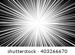 comic black radial lines... | Shutterstock .eps vector #403266670