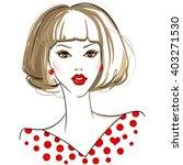 fashion vector girl. beautiful... | Shutterstock .eps vector #403271530