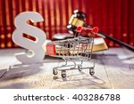 little trolley   pushcart with... | Shutterstock . vector #403286788