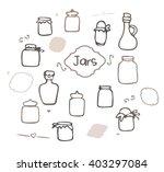 Mason Jar Vector Set. Sketched...