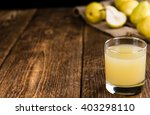 glass of pear juice  close up... | Shutterstock . vector #403298110