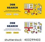 flat line icons design of job... | Shutterstock .eps vector #403299403