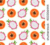 bright tropical pattern with... | Shutterstock .eps vector #403306444