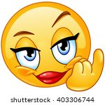 female emoticon showing... | Shutterstock .eps vector #403306744