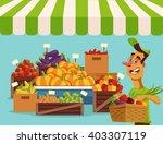 food vegetables market. vector...   Shutterstock .eps vector #403307119