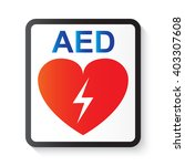 aed  automated external...   Shutterstock .eps vector #403307608