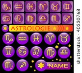 astrological set  purple square ... | Shutterstock .eps vector #40330768