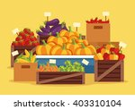 street vegetables market.... | Shutterstock .eps vector #403310104