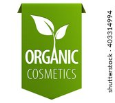 organic cosmetics green tag... | Shutterstock .eps vector #403314994