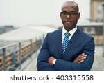 confident black business man in ... | Shutterstock . vector #403315558