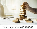 hand of engineer playing a... | Shutterstock . vector #403318588