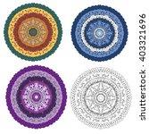 mandala round ornament  tribal... | Shutterstock .eps vector #403321696