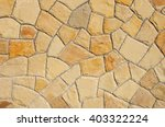 Wall Of Natural Stone In...